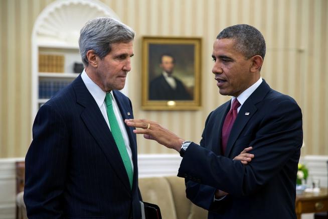 President Obama and Secretary of State John Kerry (Credit: Whitehouse.gov)
