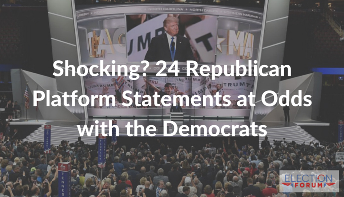 Shocking? 24 Republican Platform Statements at Odds with the Democrats