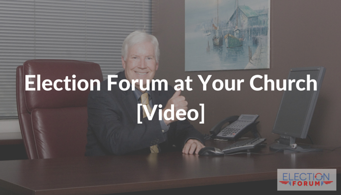 Election Forum at Your Church [Video]