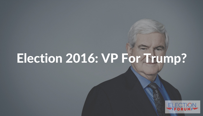 Election 2016: VP For Trump?