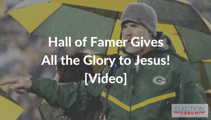 Hall of Famer Gives All the Glory to Jesus! [Video]