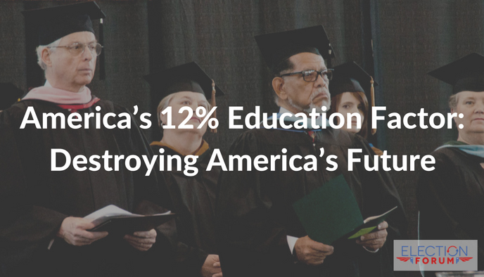 America's 12% Education Factor: Destroying America's Future