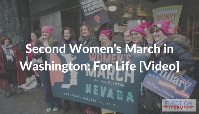 Second Women's March in Washington: For Life [Video]