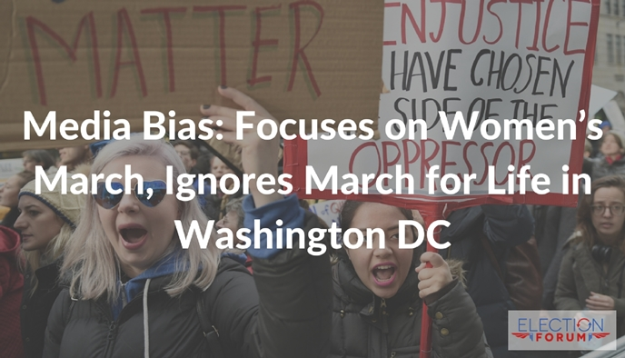 Media Bias: Focuses on Women's March, Ignores March for Life in Washington DC
