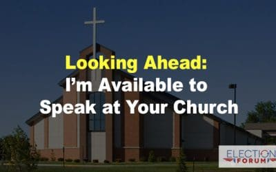 Looking Ahead: I'm Available to Speak at Your Church