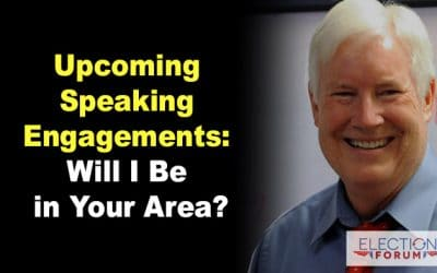 Upcoming Speaking Engagements: Will I Be in Your Area?
