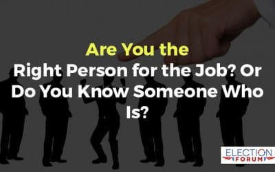 Are You the Right Person for the Job? Or Do You Know Someone Who Is?