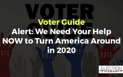 Voter Guide Alert: We Need Your Help NOW to Turn America Around in 2020