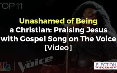 Unashamed of Being a Christian: Praising Jesus with Gospel Song on The Voice [Video]